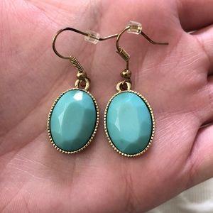 Jewelry - FREE W PURCHASE Teal Stone Drop Earrings